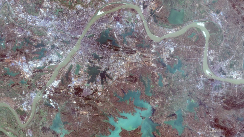 Satellite Images Show How Coronavirus Brought Wuhan To A