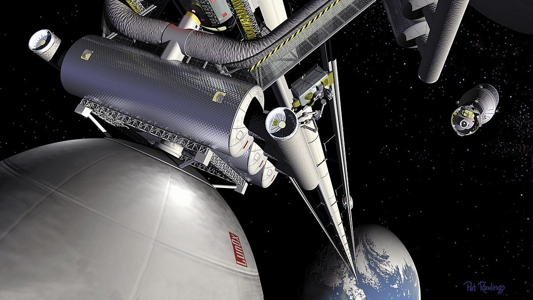 Is it safe to build a space elevator with so much junk in orbit?