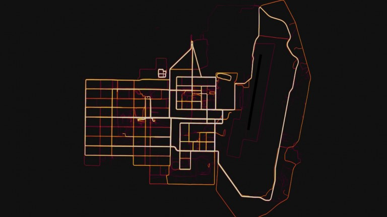 A military base in Helmand province, revealed by Strava data