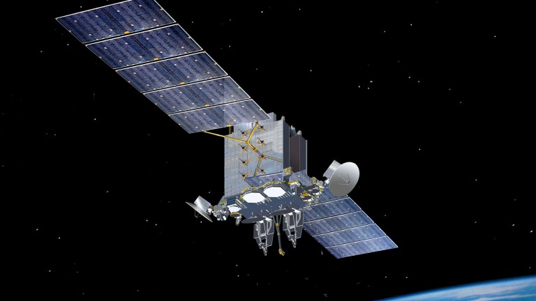 Photo of a military satellite