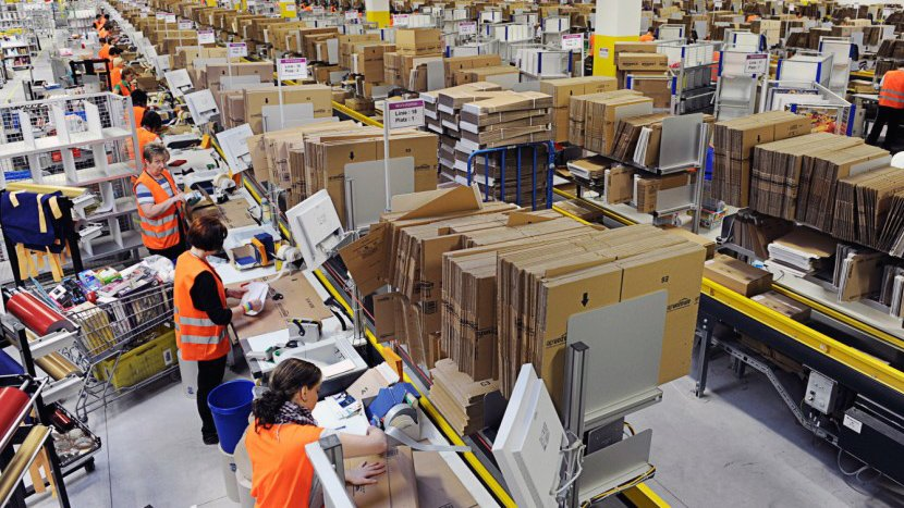 Amazon's warehouses are highly automated