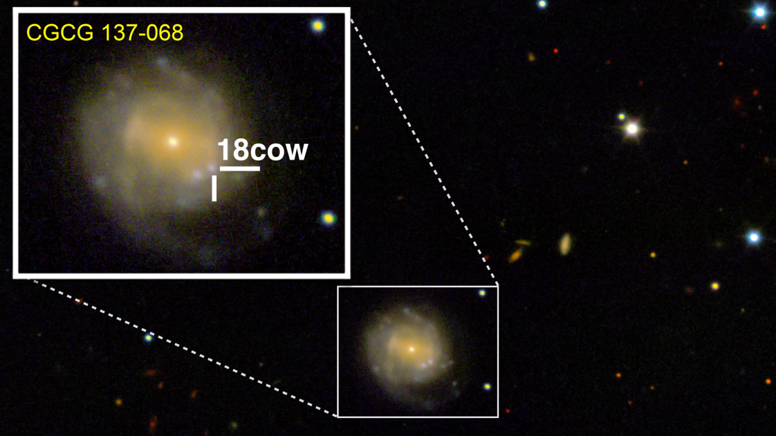 A look at The Cow (approximately 80 days after explosion) from the W.M. Keck Observatory in Maunakea, Hawaii.
