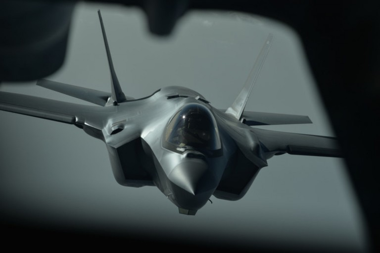 An F-35A Lightning II aircraft