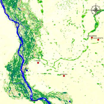 Image of satellite picture of Mali