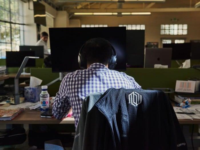 Image of man at a computer