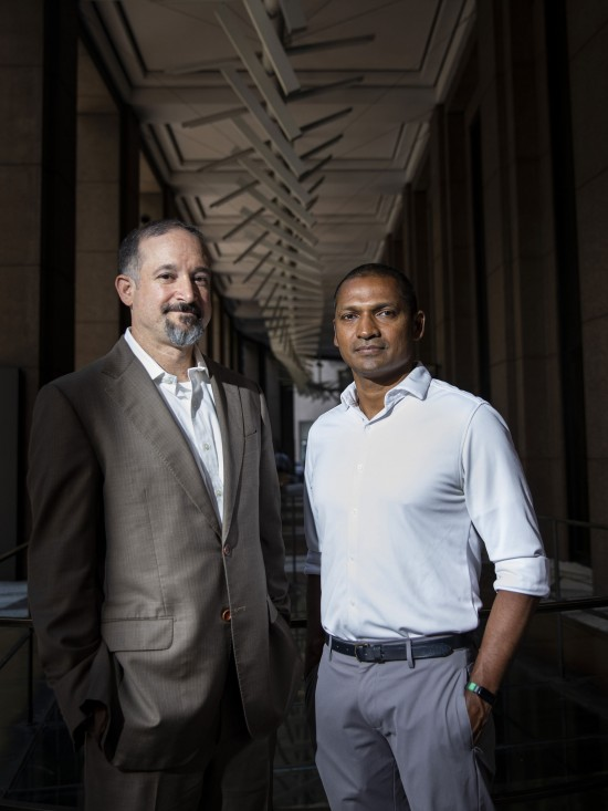 From roommates to Ultranauts co-founders: Shectman, left, and Anandan.