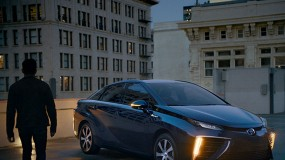 Toyota's Mirai, a fuel-cell sedan.