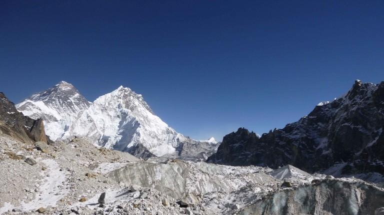 The Changri Nup Glacier near Mt. Everest.
