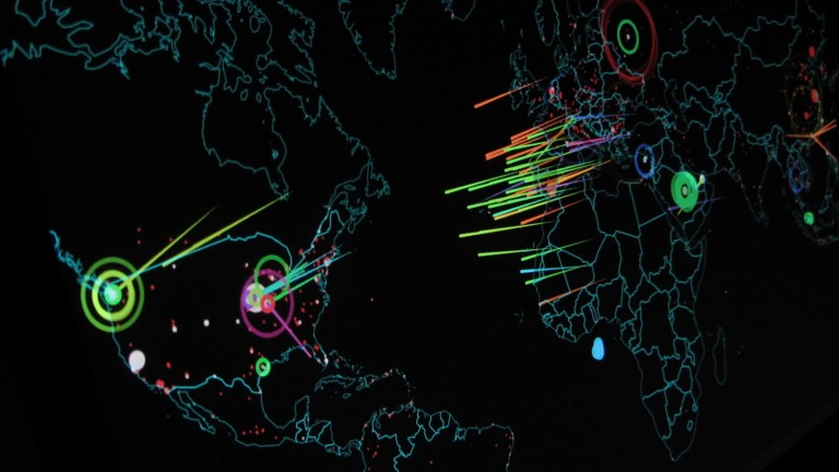 Cyber attacks being mapped in real time