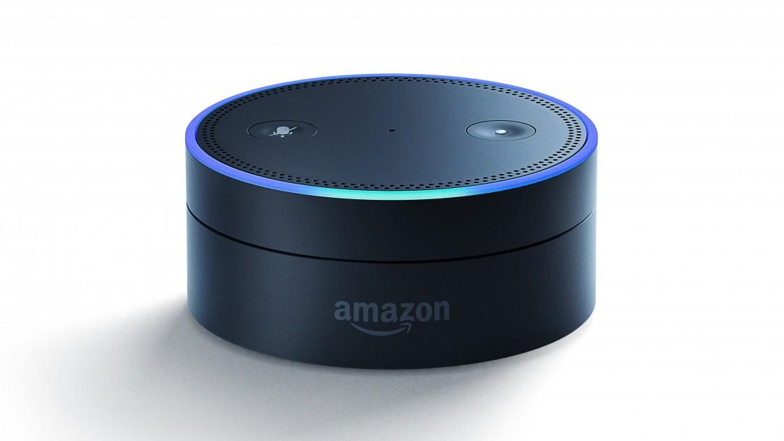 A photo of an Amazon Echo