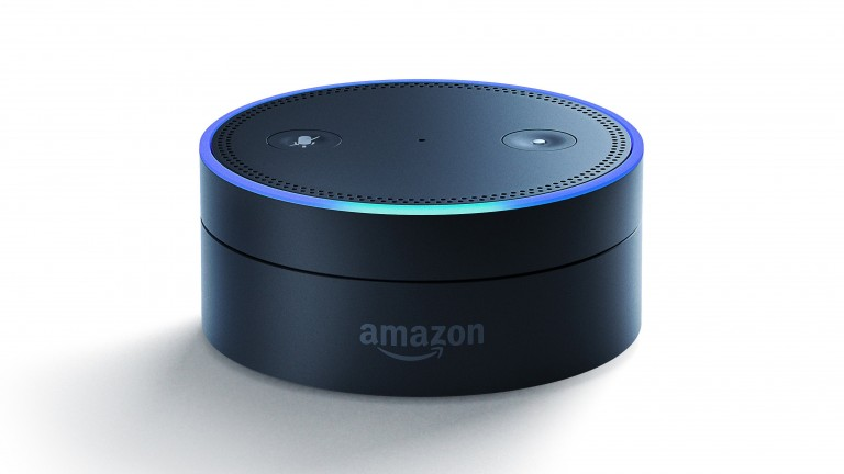 A photo of an Amazon Echo