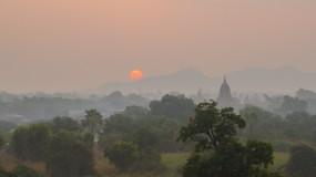 Myanmar at dusk.