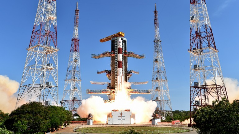Image of PSLV-C34 rocket Take Off