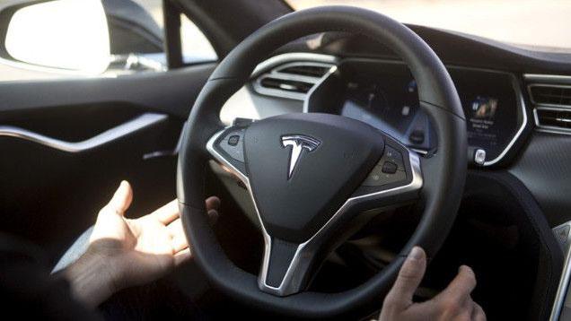 Tesla Autopilot in action