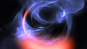 Black hole feeding on gaseous material