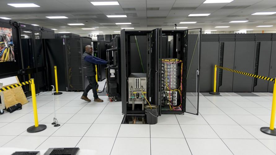 The Cerebras computer being installed at Argonne
