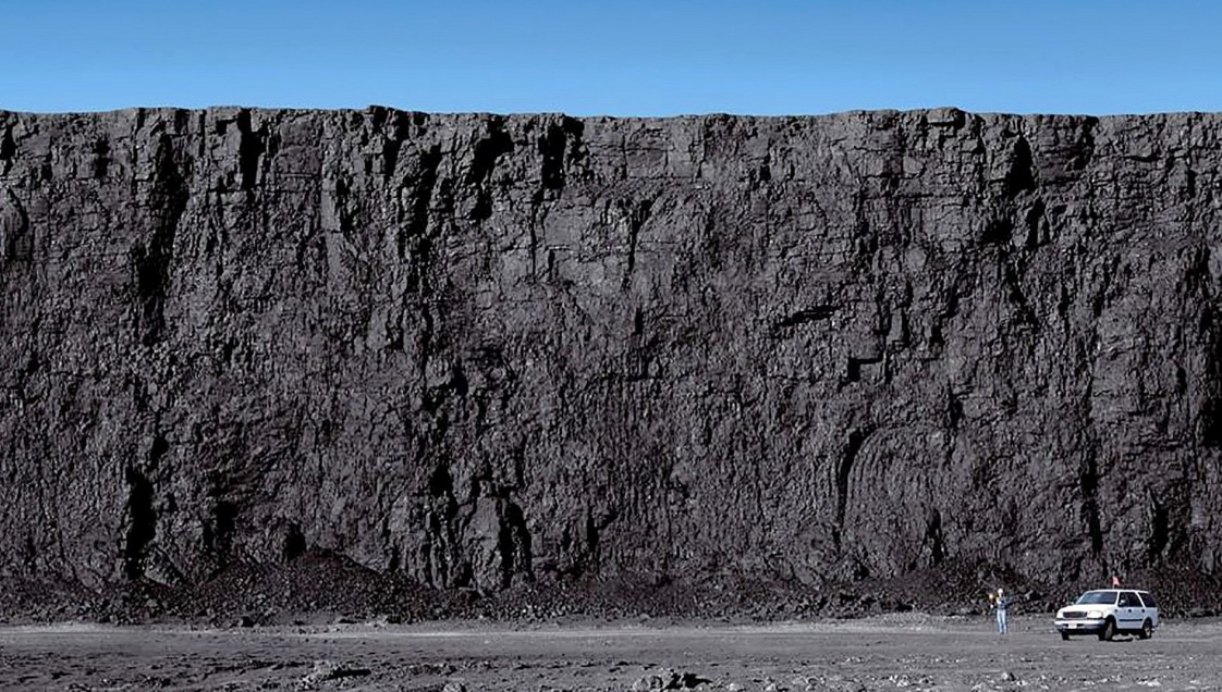 A huge surface coal mine in the Powder River Basin, Wyoming