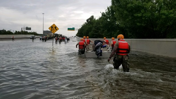 National Guard Workers after Hurricane Harvey