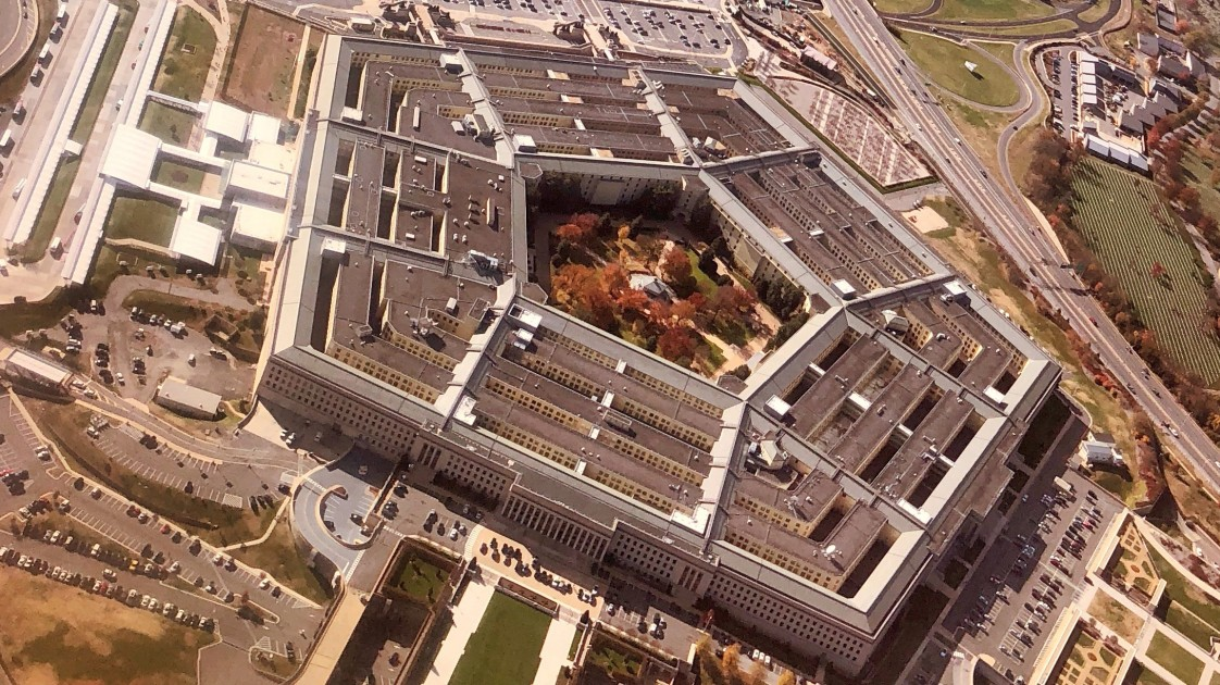 Aerial image of the Pentagon.