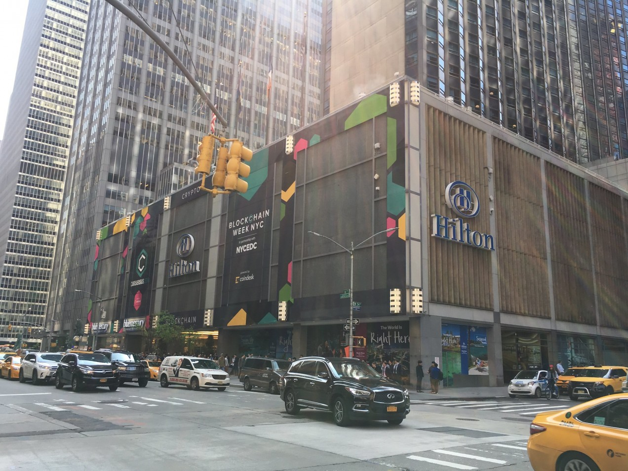 Image of New York Coindesk event at midtown Hilton