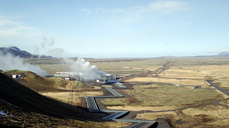This geothermal power plant is squeaky clean.