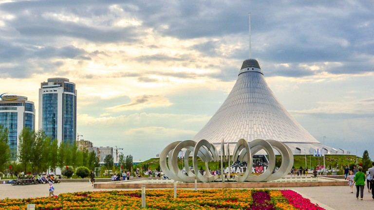 Nur-Sultan, Kazakhstan's capital city.