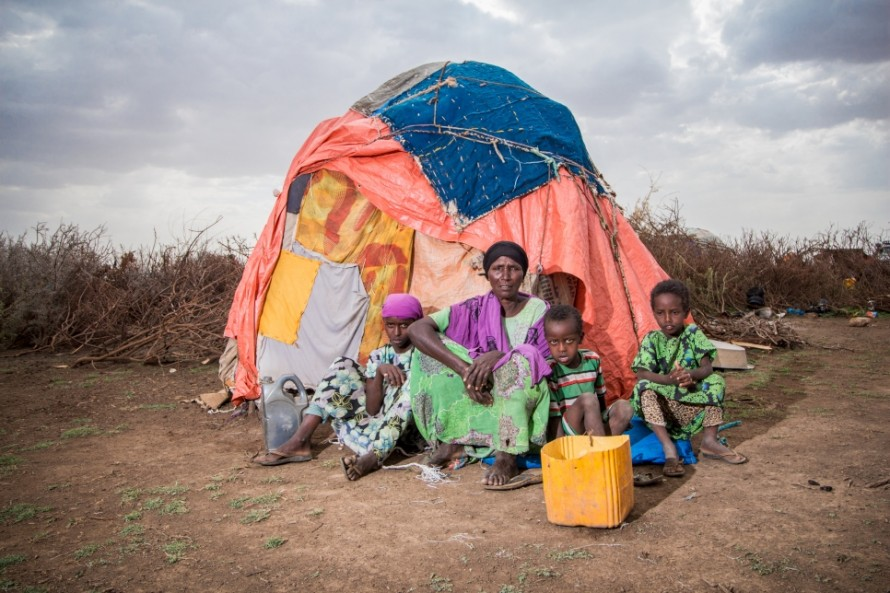Photo of an internally displaced family in Somaliland