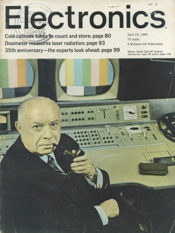 Cover of Electronics Magazine April, 1965