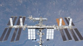 Image of the International Space Station from space