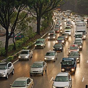 traffic jam in Singapore