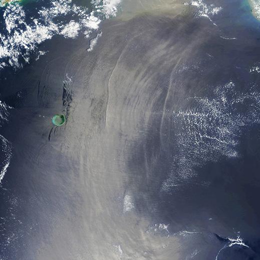 satellite image of sea surface