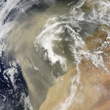 NASA satellite image of Sahara Desert dust