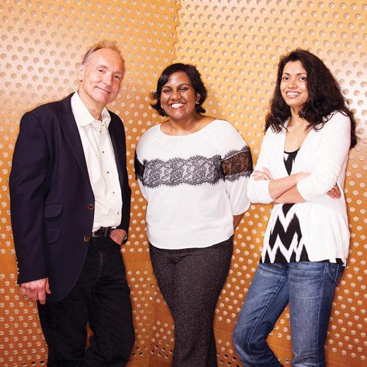 Tim Berners-Lee, Oshani Seneviratne, SM '09, and Lalana Kagal
