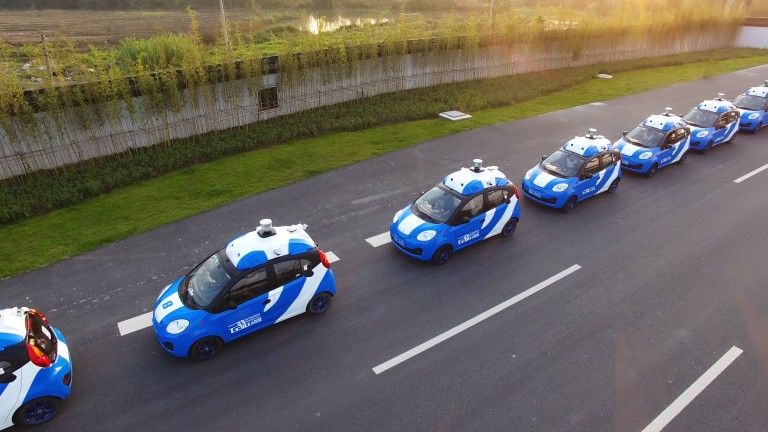 Part of Baidu's autonomous car fleet