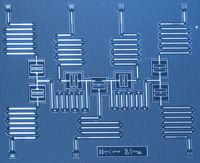 An image of IBM's quantum chip