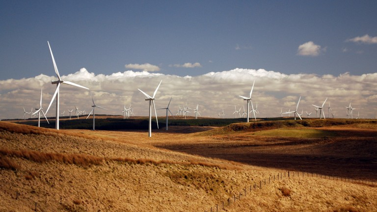 Whitelee wind farm in Scotland