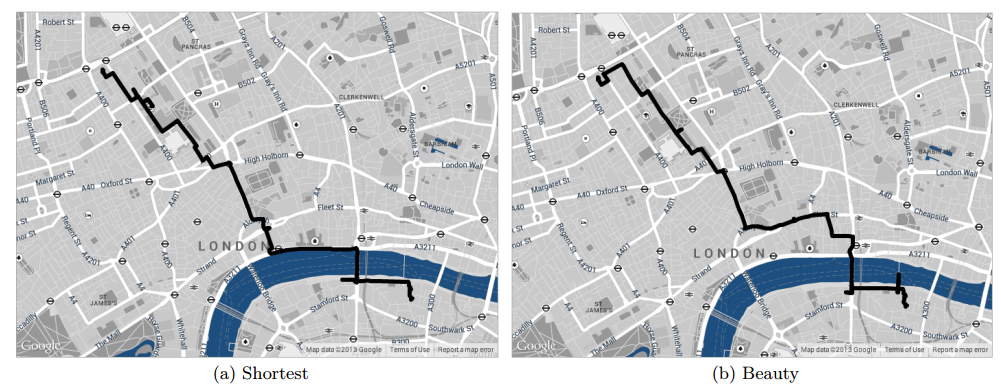 Forget the Shortest Route Across a City; New Algorithm Finds the Most Beautiful