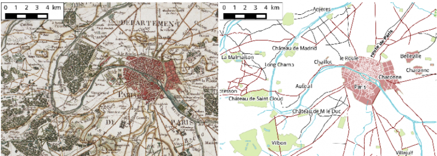 Map Of France With Key.How Cartographers Digitized The 18th Century Road Network In France