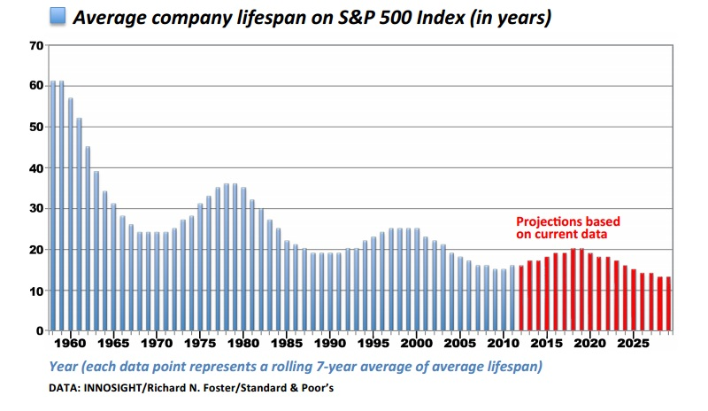 average company lifespan chart