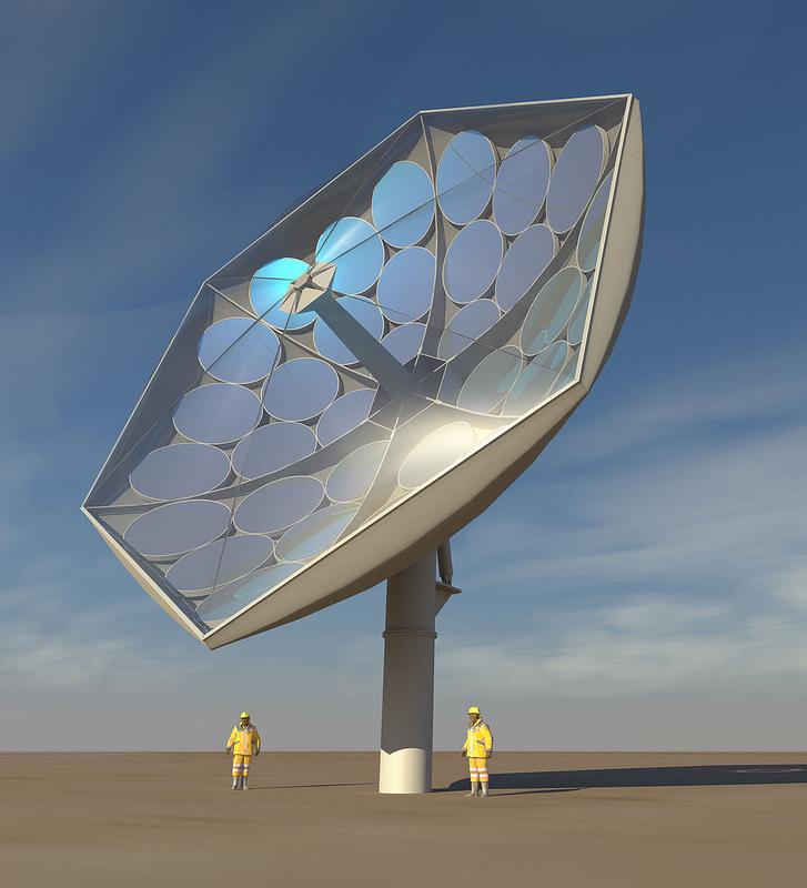 Un plato solar que cumple dos funciones