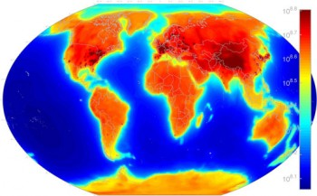 heat map of the globe