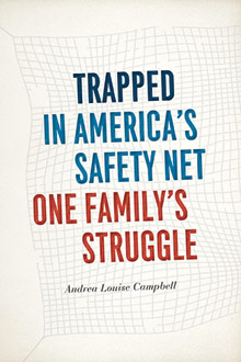 """book cover """"Trapped in America's Safety Net"""" By Andrea Louise"""