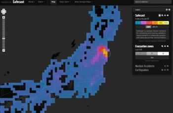 Safecast website shows radiation levels across Japan
