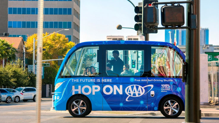 Driverless shuttles in Las Vegas demonstrate the challenges facing autonomous vehicles.