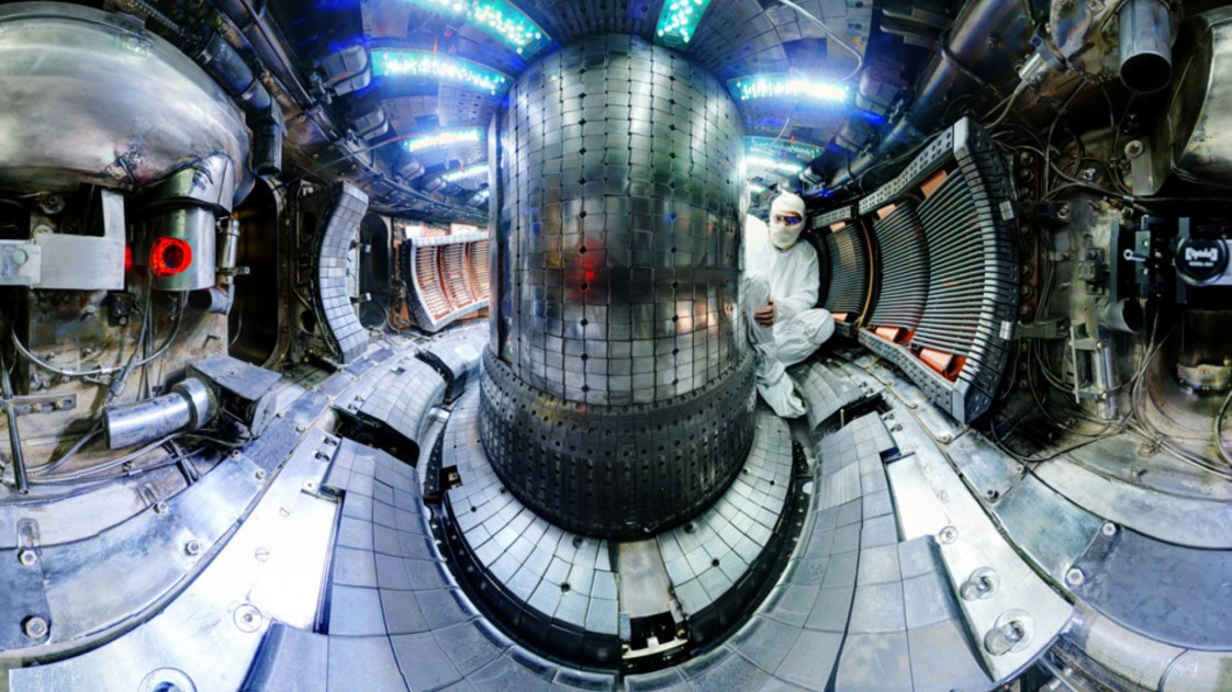 inside a fusion test reactor