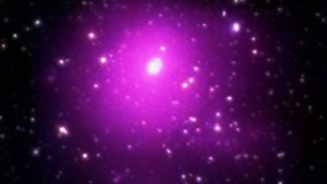 Composite image of the galaxy cluster Abell 85.
