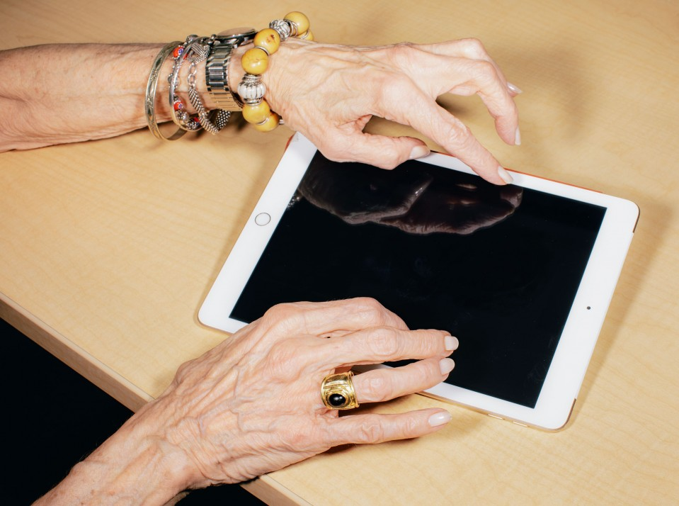 Hands on an ipad