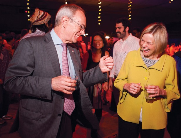 President L. Rafael Reif and his wife, Christine