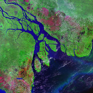 Ganges River delta in Bangladesh and India