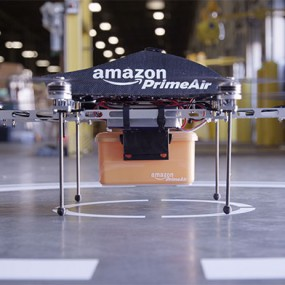 grounded Amazon Prime drone